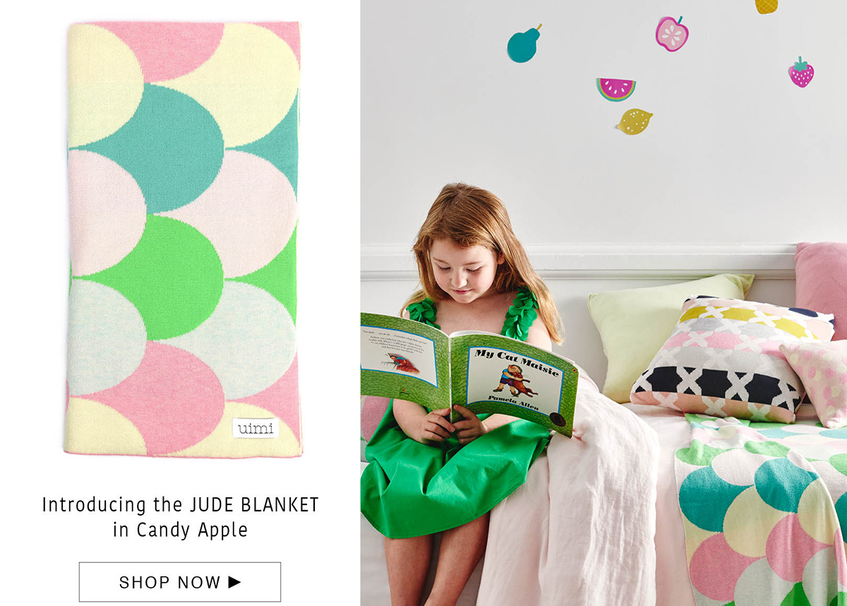 jude blanket - egyptian cotton - candy apple
