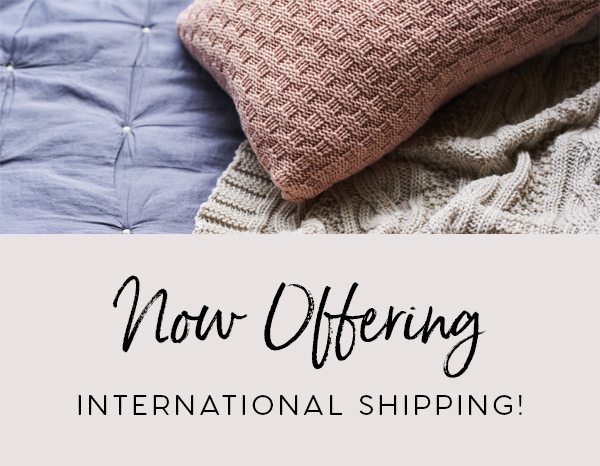now offering international shipping
