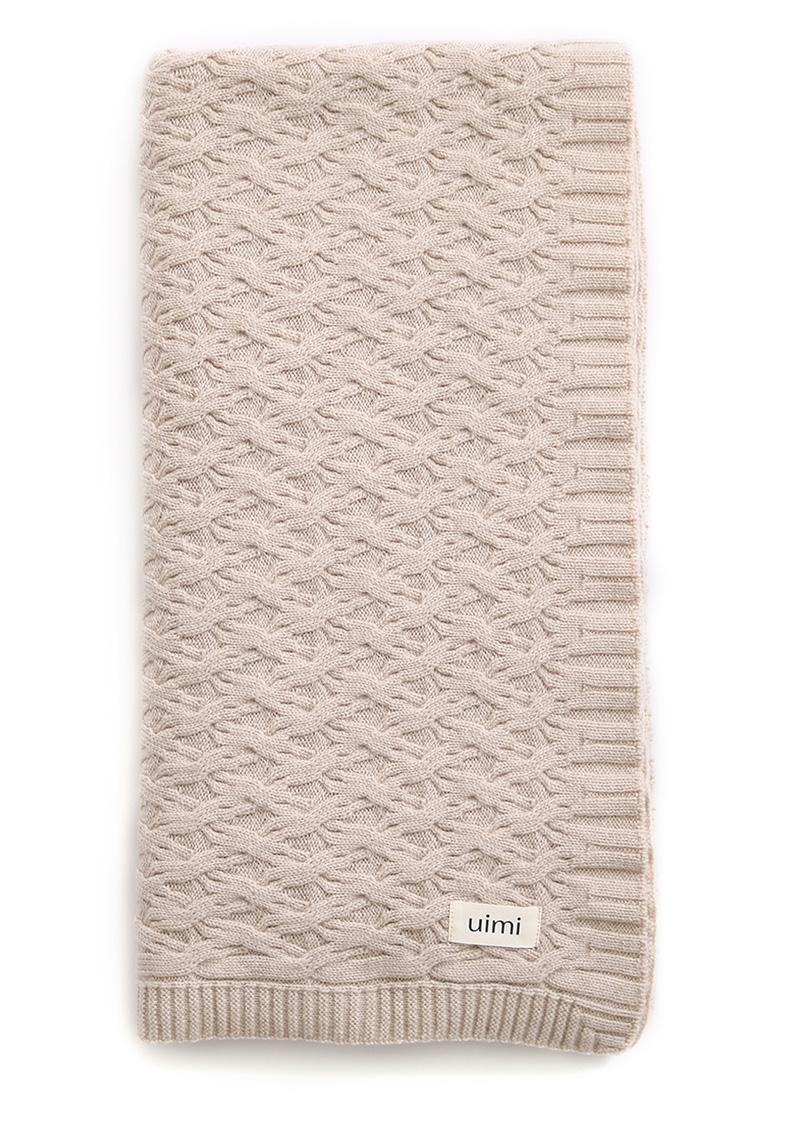 mabel blanket - merino wool - oatmeal