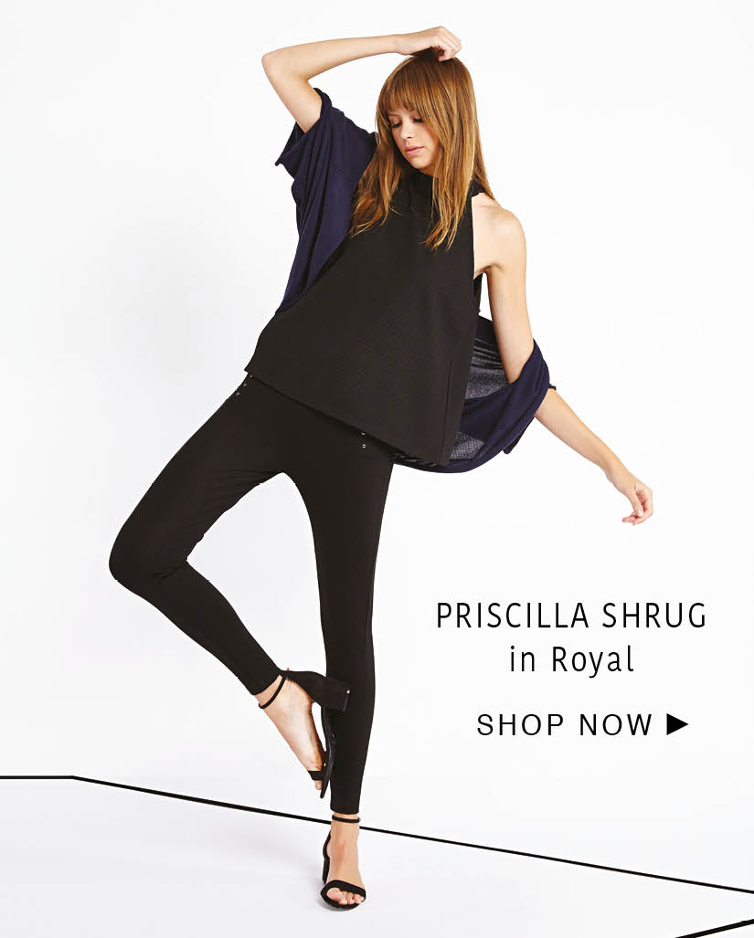 priscilla shrug - cashmere/cotton - royal