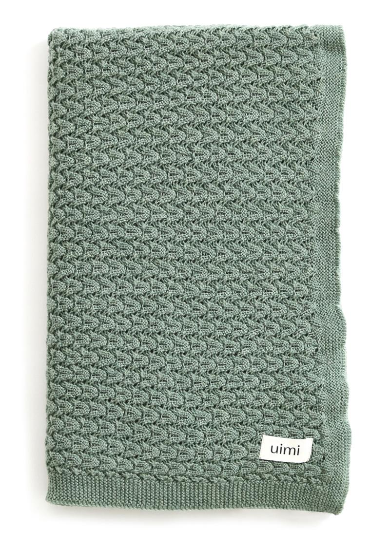 ruby blanket - merino wool - jade