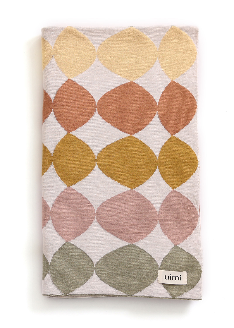 pebbles blanket - egyptian/combed cotton - terracotta