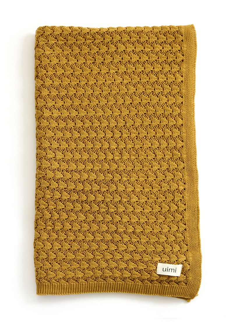ruby blanket - egyptian/combed cotton - ochre