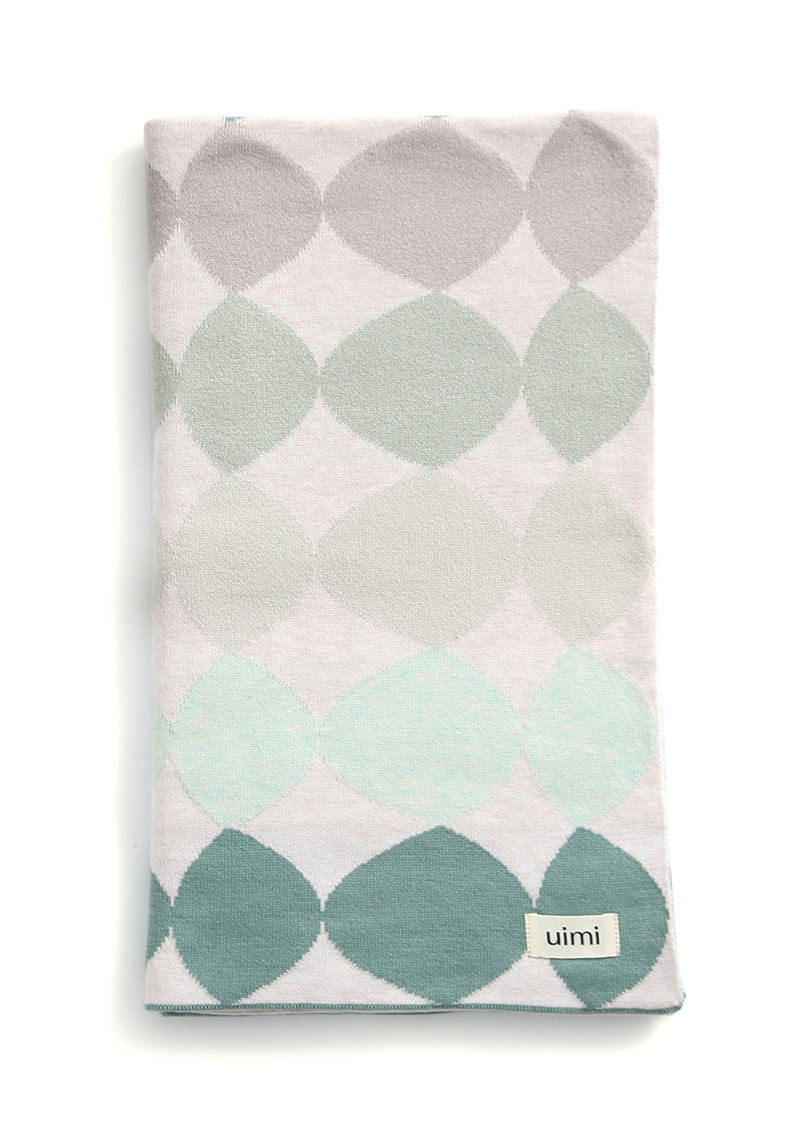pebbles blanket - egyptian/combed cotton - seafoam