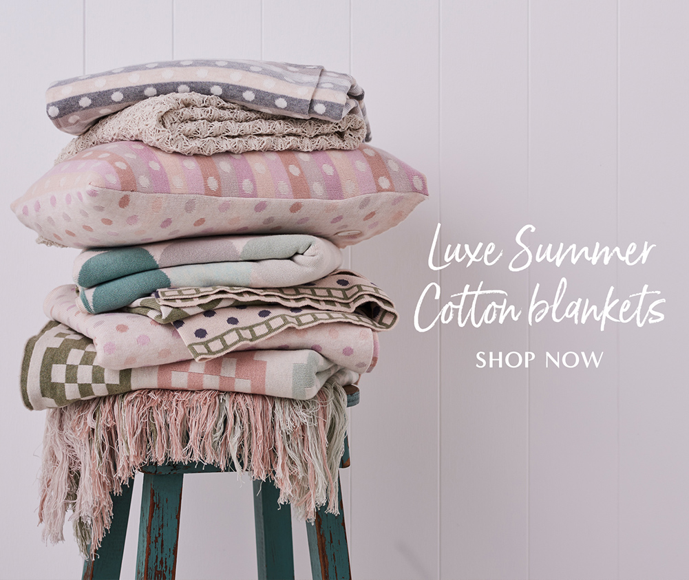 horizen summer 2020 - shop blankets now
