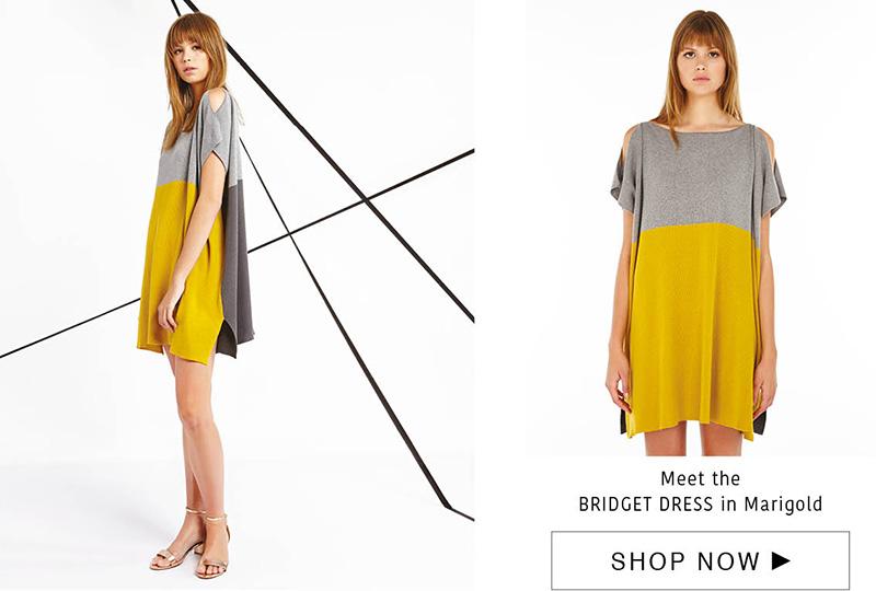bridget dress - cashmere/cotton - marigold