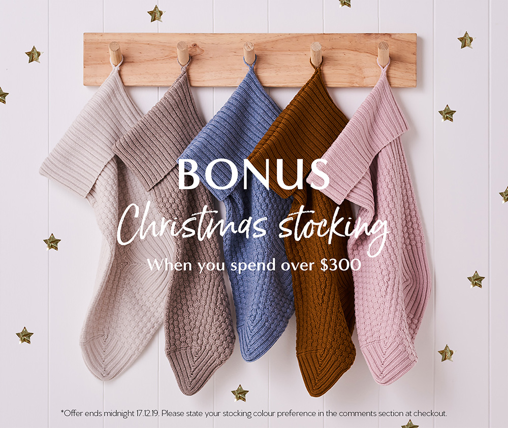bonus christmas stocking with purchases over $300