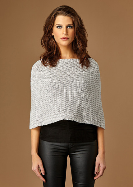 Bobbie poncho - Oyster (front)