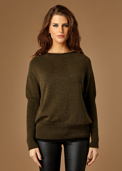 Milla jumper - Fudge (front)