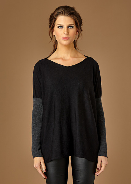 Paloma top - Black (front)