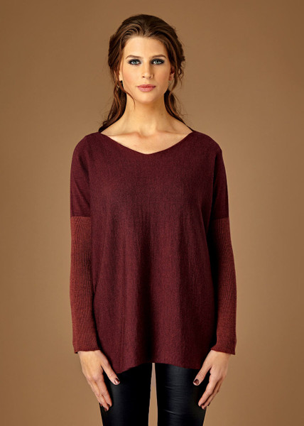 Paloma top - Claret (front)