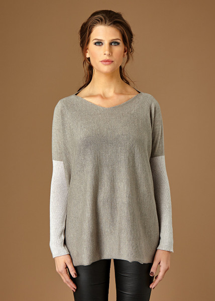 Paloma top - Dove (front)