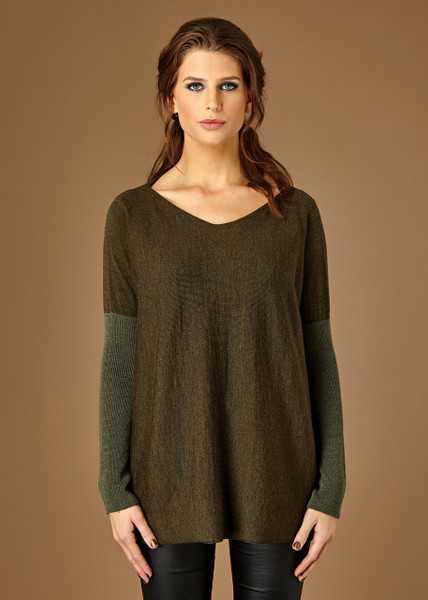Paloma top - Fudge (front)