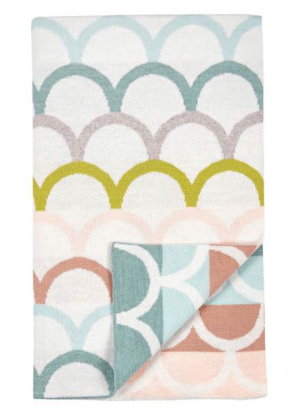 Birdie blanket - Lagoon (folded)