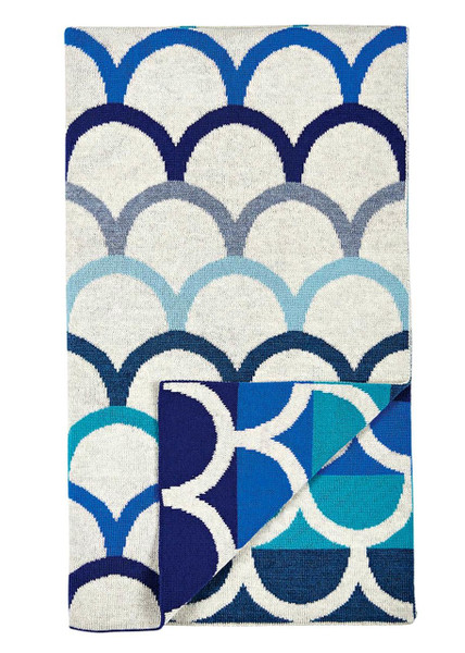 Birdie blanket - Marine (folded)