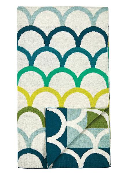 Birdie Blanket - Petrol (folded)