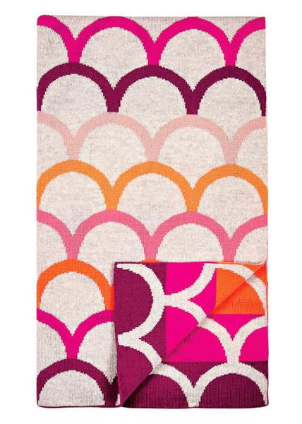 Birdie blanket - Raspberry (folded)