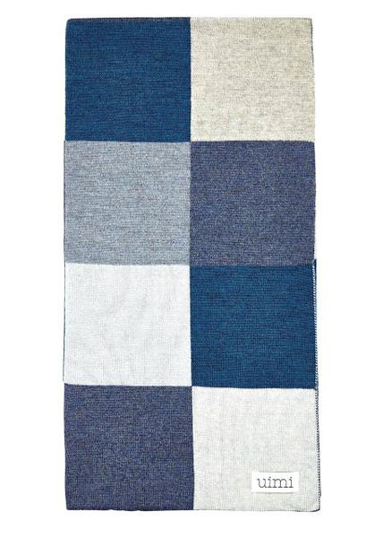 Frankie Blanket - Denim (folded)