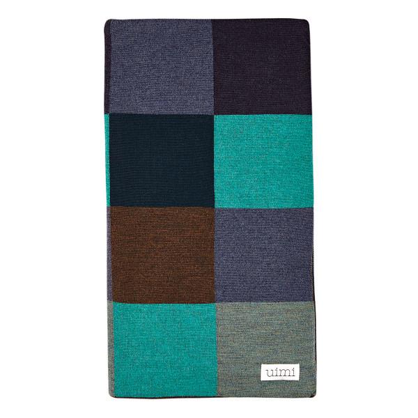 Frankie blanket - Peacock (folded)