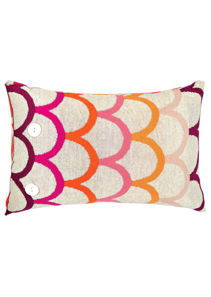 Birdie Cushion - Raspberry