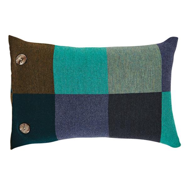 Frankie oblong cushion - Peacock