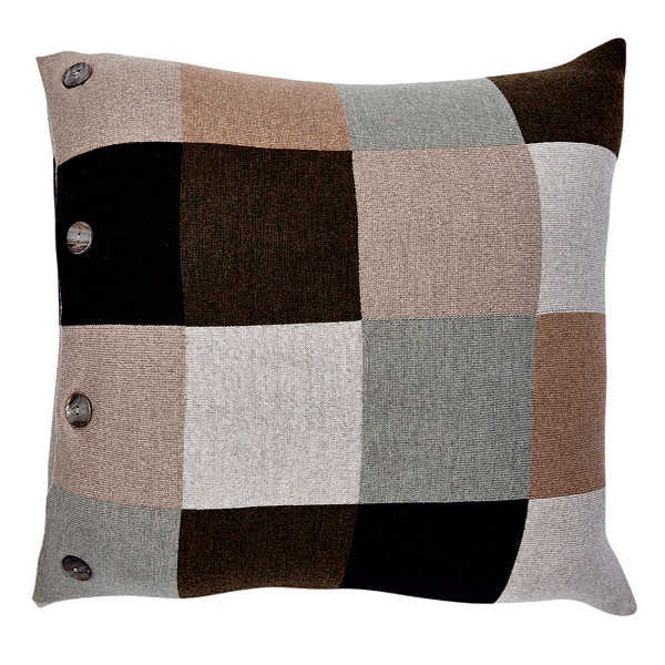 Frankie square cushion - Fudge