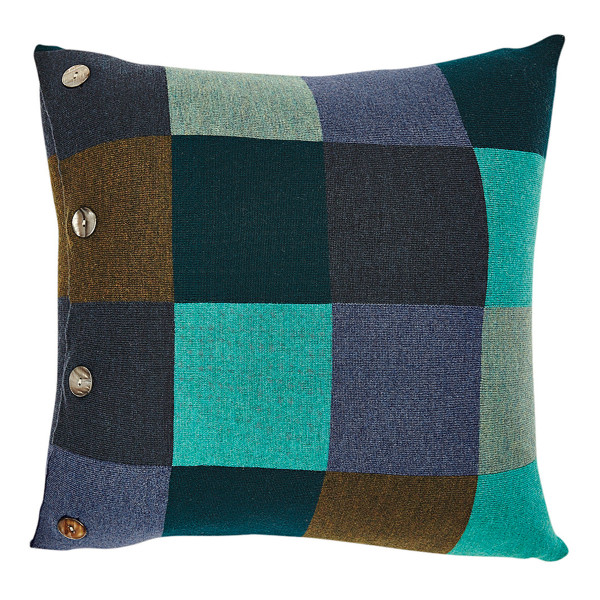 Frankie square cushion - Peacock