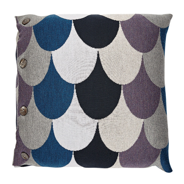 Jude square cushion - Fig (front)