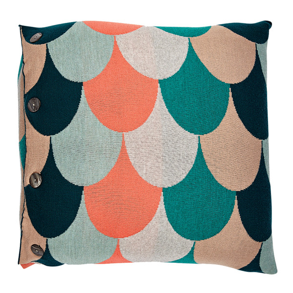 Jude square cushion - Peach (front)