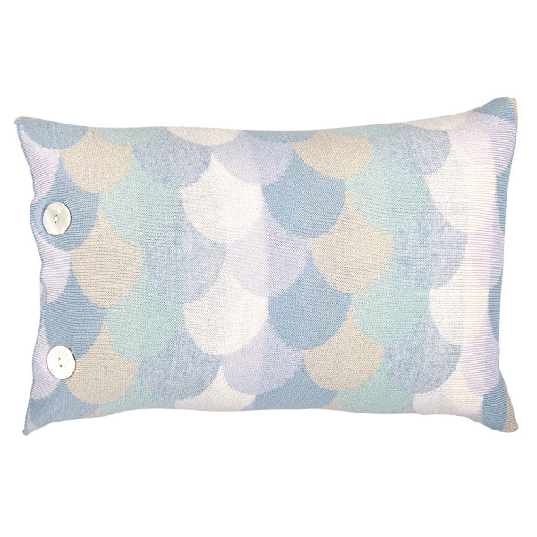 Minnie oblong cushion - Lagoon (front)