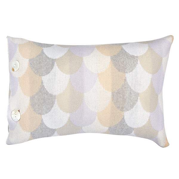Minnie oblong cushion - Pearl (front)