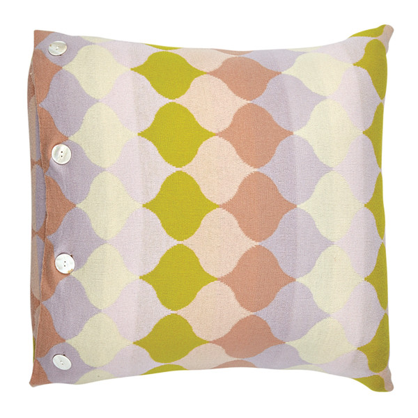 Samara square cushion - Buttercup (front)