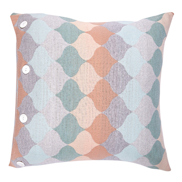 Samara square cushion - Lagoon (front)