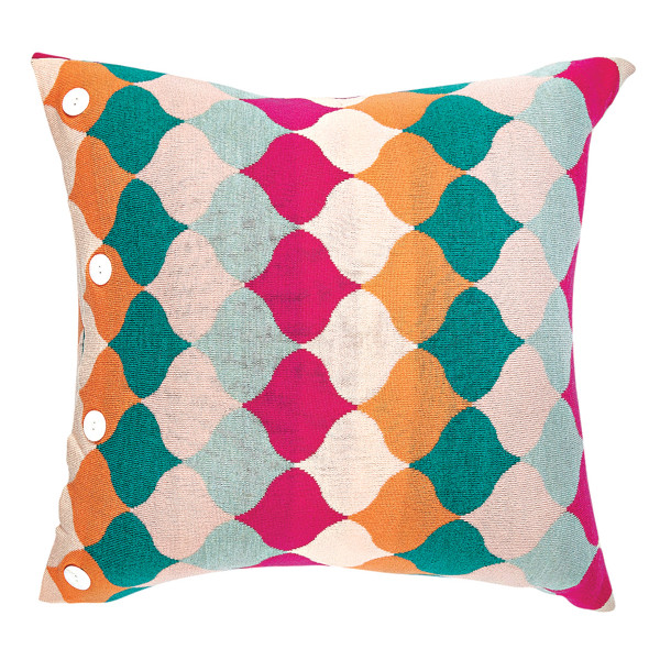 Samara square cushion - Raspberry (front)