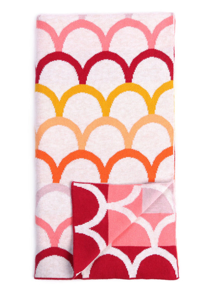 Birdie Blanket - Sherbet (folded)