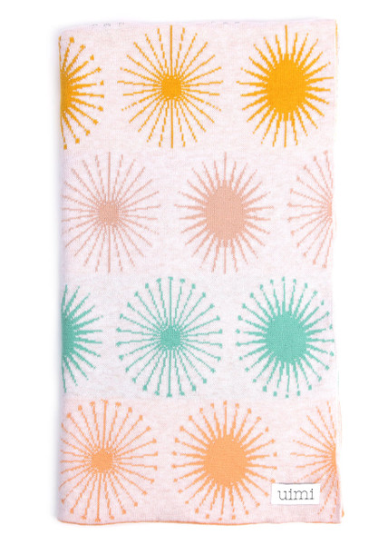 Fireworks Blanket - Jade (folded)