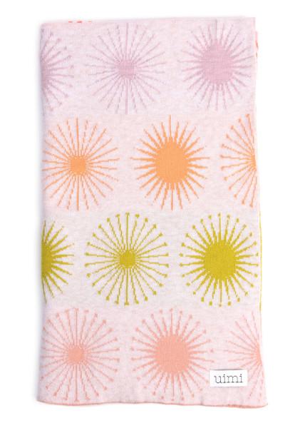 Fireworks Blanket - Mandarin (folded)