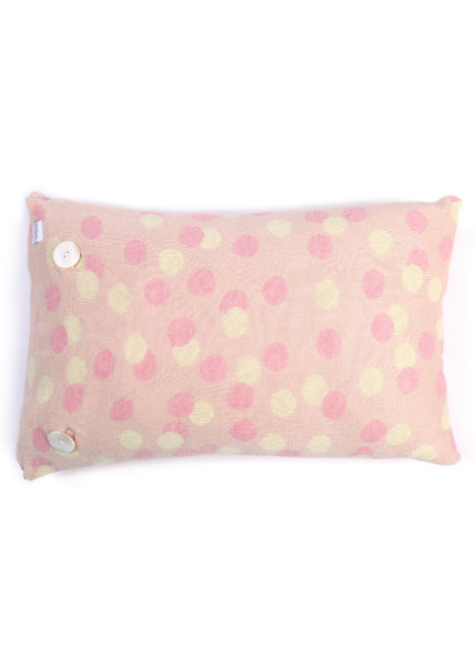 Speckles Oblong Cushion - Candy Apple