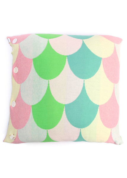 Jude Square Cushion - Candy Apple