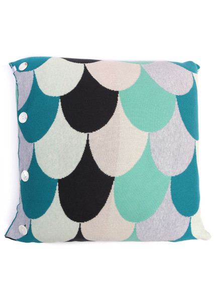 Jude Square Cushion - Caribbean