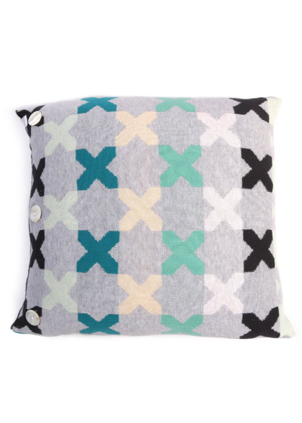 Kisses Square Cushion - Caribbean