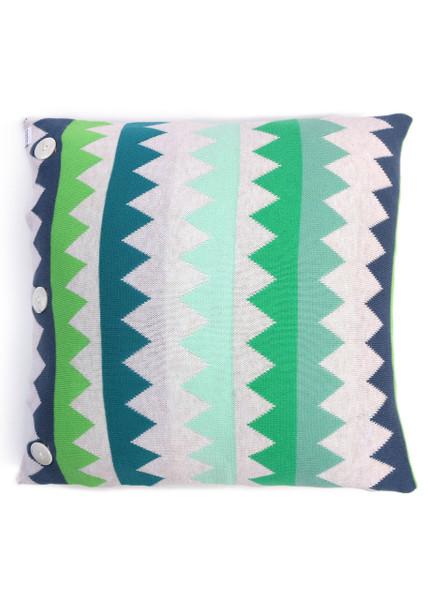 Teeth Square Cushion - Grass