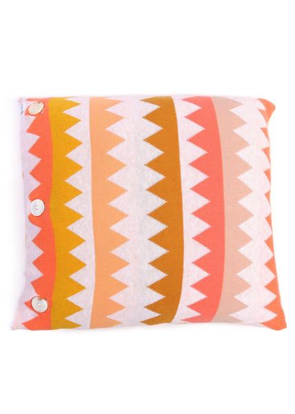 Teeth Square Cushion - Mandarin