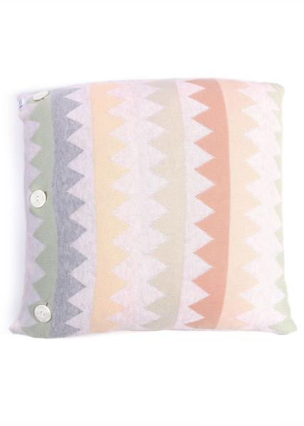 Teeth Square Cushion - Tea