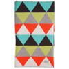 Indiana blanket - Jade - folded