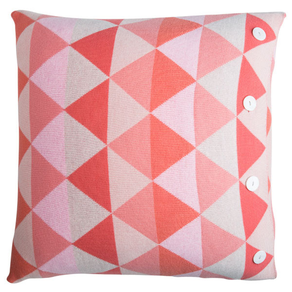 Indiana square cushion - Peach