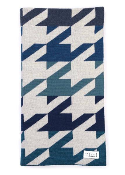 Hannah Blanket - Indigo (folded)
