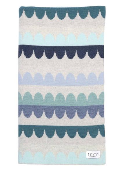 Molly Blanket - Indigo (folded)