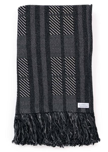 Sabine Blanket - Black (folded)