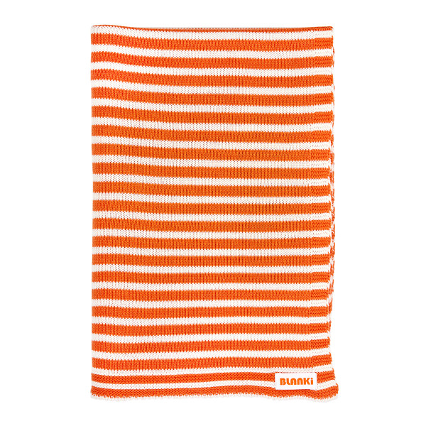 Blanki line them up blanket - Tangerine - Folded